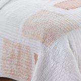 La trapunta della zona del merletto del cotone dentro arrossisce (DO6091)