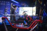 La vettura da corsa dell'automobile della vettura da corsa 6dof della vettura da corsa del simulatore dello schermo dinamico dell'automobile 3