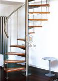 La moderna elegante escalera de caracol DIY / Escalera con pasamanos de acero inoxidable