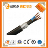 Flama livre blindada fina do fio de aço do núcleo do cobre (alumínio) - cabo distribuidor de corrente retardador