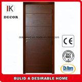 Diseño de madera de la puerta de la teca de la fábrica de China
