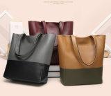 Manier de Zak van Dame Work Handbag PU Tote Grootwinkelbedrijf 2PCS (WDL0809)