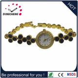 Reloj del cuarzo de la manera de la pulsera de la caja de la aleación para las mujeres