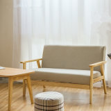 Il legno sezionale dei piedini domestici copre il sofà