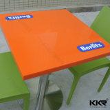 Tabelle di superficie solide di pietra artificiali durevoli bianche per il ristorante (171124)