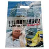 Polybag cortado personalizado da compra do Tote do saco de plástico do punho