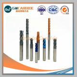 HRC45-68 du carbure de tungstène 2/3/4 flûtes fin Mill