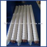 40 pulgadas cartucho de filtro de agua de la cuerda de rosca del polipropileno de los PP de la herida de 1 micrón