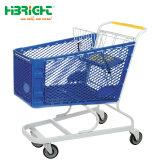 Supermercado de plástico Metal Plástico Carrinho de carrinho de compras