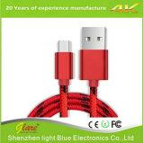 고속 유형 C에서 USB 나일론 땋는 케이블