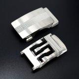 Hebilla de correa automática del acero inoxidable del metal de los hombres ajustables de plata de encargo del desbloquear con la talla de insignia