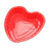 La FDA délivrent un certificat le moulage de gâteau de silicones, moulage affectueux de gâteau de silicones de forme de coeur/moulage de pudding/moulage de silicones crême glacée