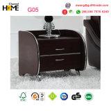 Le Roi blanc moderne Leather Bed pour les meubles de chambre à coucher (HC316)