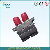 FC/St/Sc/LC/MPO/MTP Simplex/Duplex Singlemode/Multimode StandaardPlastiek Om3/Om4/APC of Metaal of de Hybride Optische Adapter van de Vezel