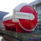 エクアドル(SN-BGF2850)への2850X5000mmの完全なオートメーションの建築ガラスオートクレーブ