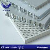 Matériau de construction en aluminium résistant au feu Honeycomb pour revêtement mural