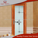 Puerta de aluminio del cuarto de baño del grano de madera del precio competitivo con el vidrio doble