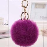 Keychainまたは本物の実質のキツネの毛皮Keychainが付いている熱い販売のポンポン