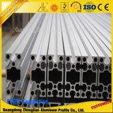 perfiles de aluminio anodizados 6063t5 del aluminio de la ranura de la protuberancia V
