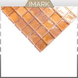 Желтая глянцевая стеклянной мозаики для кухни Backsplash плитки
