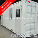 Casa modular Prefab do recipiente do bloco liso do transporte do Manufactory
