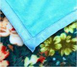 온난한 연약한 꽃은 100%년 폴리에스테 Flannel 양털 담요를 인쇄했다