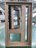 Guichet en aluminium en bois de type américain pour le propriétaire des Etats-Unis