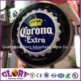 Acrylic рекламируя бутылку пива 3D СИД подписывает светлую коробку