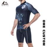 Comercio al por mayor de los hombres Ajustar en seco la sublimación colorido Jersey ciclismo
