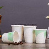 taza blanca de un sólo recinto del café caliente 12oz con la tapa