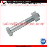 La norme DIN 7990 Strutural boulon hexagonal avec la norme ISO 4034 d'écrous hexagonaux galvanisé à chaud