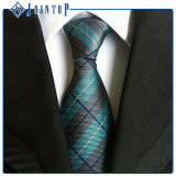 Blanc classique en soie de 100% et cravate d'hommes de couleur