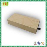 Regalo de papel de desplazamiento de encargo respetuoso del medio ambiente del cajón/rectángulo de empaquetado de la joyería