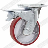 Double noyau de fer de roulement à billes de précision en polyuréthane Roulette industrielle de roue