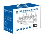 720p 1.0MP 8CH Wireless WiFi Kit NVR vigilância câmara CCTV