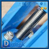 Válvula de puerta empernada manual completamente dirigida del capo de Didtek