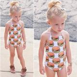 사랑스러운 여자 아기 아이 수영 착용 과자 인쇄 아이 수영복