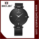 Belbi Geschäfts-einfache analoge ultradünne Edelstahl-Mann-Uhr