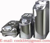 Edelstahl Einheitskanister (Benzinkanister, Dieselkanister, Wasserkanister und Oelkanister) 25 Liter kann