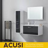 Moderner schwarzer wasserdichter Badezimmer-Speicher-Badezimmer-Eitelkeits-Schrank (ACS1-L58)