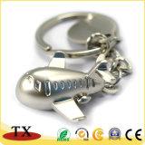 Kundenspezifische Flugzeug-Form-Perlen-Überzug-Metallzink-Legierungs-Schlüsselkette
