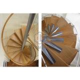 Escalera espiral de las escaleras prefabricadas de interior de madera sólidas