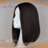 Pleine perruque noire d'avant de lacet de cheveu de Vierge de couleur (PPG-l-01576)