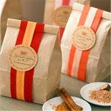 Kundenspezifischer Kaffeebohne-Quadrat-flache Unterseiten-Beutel-Packpapier-Kaffee-Beutel