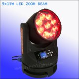 indicatore luminoso capo mobile dello zoom LED 4in1 del fascio 9X15W
