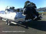 Barco inflable de la costilla del Ce de los fabricantes del barco del casco rígido de Liya 27feet