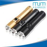 Алюминиевый сплав зум светодиодный фонарик яркого света для использования вне помещений аккумулятор горелки