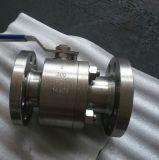 Super de acero forjado de acero inoxidable dúplex con extremos de la válvula de bola con brida