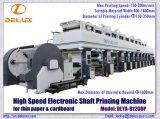 Shaftlessのボール紙(DLYA-81200P)のための高速自動グラビア印刷の印刷機