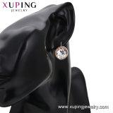 Xuping Estrás Princess accesorios color plata brillante Hoop Earrings los cristales de Swarovski